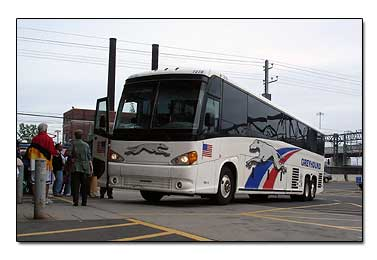 Greyhound bus New Haven