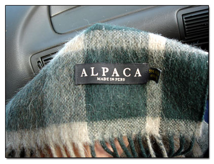 Alpaca made in Peru