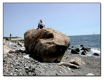 Big boulder at fishing spot